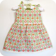 Using Itty Bitty Baby Dress pattern from Made by Rae