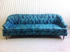 midcentury patterned couch
