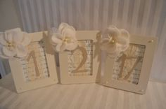 Hey, I found this really awesome Etsy listing at https://www.etsy.com/listing/82770599/garden-wedding-table-numbers-painted