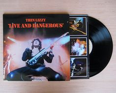 "Thin Lizzy ""Live And Dangerous"", Gatefold Double Vinyl Album. Amazing Condition!"