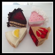 Felt Food Patterns | DESSERT DELIGHT - Felt Food Pattern - Birthday Cake, Chocolate Cake ...