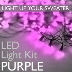 Light Up Your Ugly Christmas (or Halloween) Sweater with Battery Operated LED Light Kit (Purple) Ugly Sweater Party, Ugly Christmas Sweater, Battery Operated Led Lights, Led Light Kits, Sweater Shop, Light Up, Party Ideas, Cool Stuff, Halloween