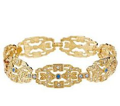A gift from JFK, Jackie's gold art-deco style bracelet had 17 sapphires and 112 diamonds. She wore this bracelet at the White House while dancing with Serge Obolensky. Mr. Obolensky was a Russian aristocrat who married Czar Alexander II's daughter, and he fought as a guerilla against the Bolshevik revolutionaries in 1917.