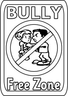 100 free coloring page of a Bullying