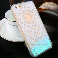 Newest Hot Dynamic Liquid Glitter Star & Love hearts QuickSand Case For iphone 6 6s/6Plus 6s Plus Crystal Clear Phone Back Cover