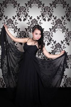 This is me wearing Blink Gallery Gown. It was really silk and soft touching my skin. This gown is the most beautiful gown I ever had, really..