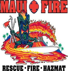 maui fire dept t shirt | Maui, Hawaiian Fire Department T-Shirt - Fireswap Firefighter Shirts