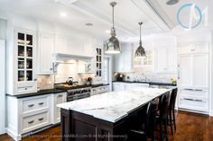 Small details, such as the unique corners of the island, can make a huge difference in the full feel of a kitchen.