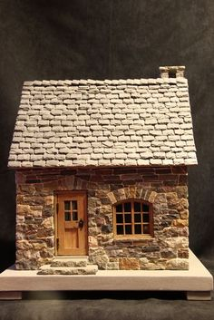 Cutest DIY Miniature Stone House Ideas Skip to full craft Clay Houses, Putz Houses, Paper Houses, Miniature Houses, Miniature Dolls, Doll Houses, Mini Houses, Stone Cottages, Stone Houses