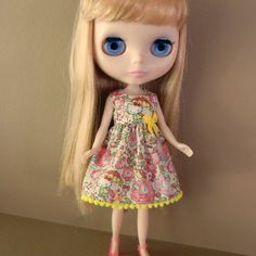 Liberty of London Hello Kitty Dress for Blythe by myfairdolly, $14.00