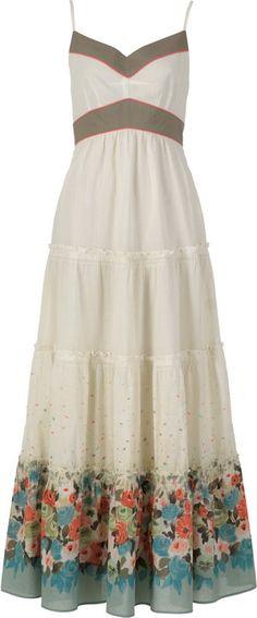 Askılı uzun günlük elbise