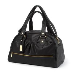New York Faux Leather Weekender Bag | Icing