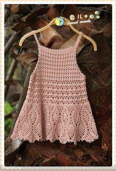 Croche e Pontos: Vestido Rosa