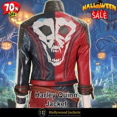 #Halloween Hot offer Get 70% OFF on #SuicideSquad Kill the Justice League Game #HarleyQuinn Studded Jacket. Shop From jacketsmasters.com #HalloweenSale #Sale #2021 #OOTD #Style #Cosplay #Costume #Fashion #Jacket #fashionstyle #shopnow #Clothes #discountoffer #outfit #onlineshopping #discount #pumkinpatch #styleyourself #Halloween2021 #HalloweenGiftIdea #HalloweenCostume #halloween2021 #HalloweenClothes #HalloweenCostume2021 #HalloweenDay #Lettermans #Varsity #Bomber Studded Jacket, Leather Jacket, Jacket Men, Halloween Sale, Justice League, Harley Quinn, Squad, Shop Now, Hollywood
