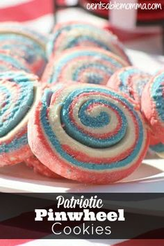 Create a fun red, white, and blue treat with this Patriotic Pinwheel Cookies Recipe.
