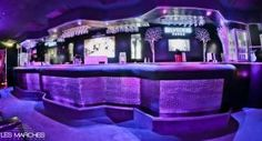 Croco Style Wall Panels  Used here as Bar Façade for  Les Marches Nightclub,  Cannes, France