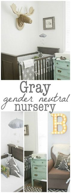 Gray Nursery - shared nursery inspiration & gender neutral!