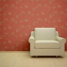 Burlap Metallic Leaves Designer Wallpaper from Nilaya by Asian Paints