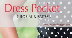 Zaaberry: Dress Pockets - TUTORIAL & PATTERN
