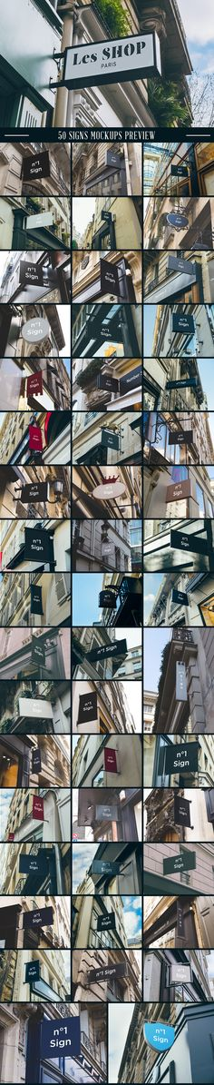 A massive collection of 100 Signs & Facades hight quality mockups. #sign mockups #mockup #sign