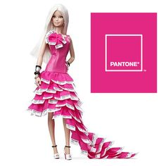 If It's Hip, It's Here: An Official Pantone Barbie! That's Right. Mattel's New…