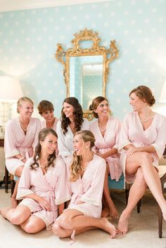 A Classic Black Tie Country Club of Virginia Wedding in Richmond Virginia with Blush Bridal Party Tones.