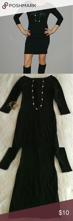 Boatneck LBD Boatneck LBD by xhilaration. Size small. Can fit xs. Wouldn't recommend higher. I'm 5'2 and it falls about two inches above knee.  Accessories not included. Top zipper down back. Dresses Mini