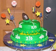 All Sports Themed Cake Childrens Birthday Cakes
