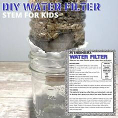 What a fun way to learn about our water cycle and how water is filtered! Learn about water filtration and make your own water filter at home or in the classroom. All you need is a few supplies for this STEM project. Perfect for elementary aged kids at home or in the classroom. Science Activities For Kids, Kindergarten Science, Easy Science, Stem Activities, Stem Projects For Kids, Stem For Kids, All You Need Is, Stem Steam, Coffee Uses