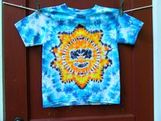 Tie Dye T-shirt - Mr. Cool Sunshine - Youth Extra Small (2-4) - Ready to Ship