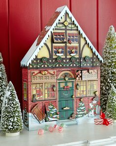 Christmas+House+Advent+Calendar+at+Neiman+Marcus.