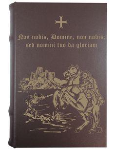 Coffret-livre Chevalier templier « ☩ Non nobis, Domine, non nobis, sed nomini tuo da gloriam ☩ »
