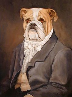 Old World Portrait - Barnabus P. Bullworth Bulldog