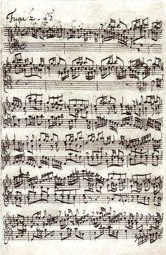 Bach, Wohltemperiertes Klavier, Autograph, c-moll Fuge