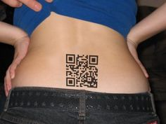 QR Tattoo, this would've made college a whole lot easier