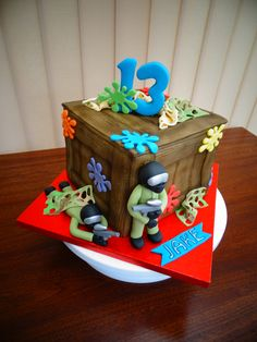 Paintball Theme Cake xMCx