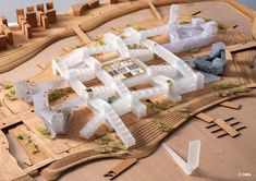 Image 6 of 13 from gallery of OMA Among Winners of Competition for Unicorn Island Masterplan in China. Photograph by OMA Oma Architecture, Architecture Model Making, Architecture Collage, Amazing Architecture, Win Competitions, Design Competitions, Chengdu, Unicorn Island, Architecture