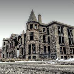 Abandoned Castle house in Detroit