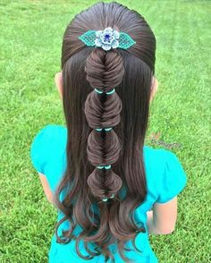 30 Super Cute Hairstyles For Little Girls Looking for some funky and pretty hairstyles for little girls? 30 Cute hairstyles for your little girl as she heads back to school this winter. These trendy girls hairstyles are perfect for dressing up any back to Baby Girl Hairstyles, Pretty Hairstyles, Braided Hairstyles, Kids Hairstyle, Hairdos, Children Hairstyles, Wedding Hairstyles, Cute Little Girl Hairstyles, Toddler Hairstyles