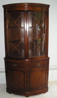 Drexel-Travis Court- Mahogany Corner Cabinet