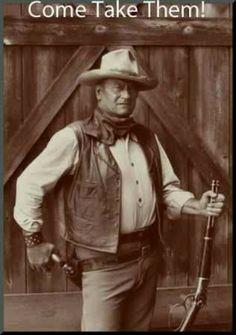 John Wayne with guns rifles gun rights