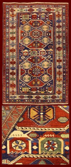 ANTIQUE SHIRVAN RUG CAUCASUS - 200 X 130 CM - 6.56 X 4.27 FT - COD. 141128338258