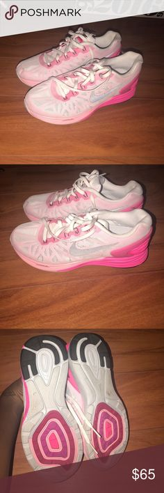 Nike shoes Pink Nike lunarglide 6 never worn Nike Shoes Athletic Shoes