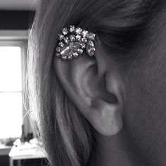 The Evelyn Ear Cuff - Handmade Rhinestone Ear Cuff
