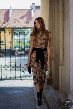 Giorgia Tordini at Milan Fashion Week SS 2016 by STYLEDUMONDE