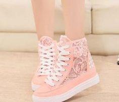 lace canvas shoes