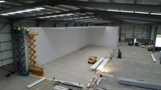 RS Refrigeration Installation: Main Freezer taking shape: 44.5m long by 10m high by 15m wide