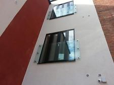 10mm Toughened Glass  Juliet Balcony 1500mm x 1100mm with 4 fixings