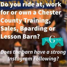 Instagram makes such a huge impact on businesses today! Contact Nicole at  Nicole@GianniEquiMedia.com to discuss how an Instagram account can make a huge impact on your barn's business! Gift Certificates are now available at gianniequimedia.com ! It's the perfect gift for the barn owner or trainer in your life! Gianni Equi Media is for all areas of the equine industry not matter the level or discipline! #GiveTheGiftOfGianniEquiMedia #ChesterCounty #BoardingBarn #TrainingBarn #LessonBarn