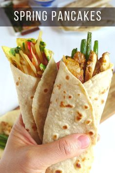 Tender, supple and very thin, Chinese spring pancakes are made with only two ingredients. Perfect wrapper for any fillings of your choice. #redhousespice Wrap Recipes, Veggie Recipes, Asian Recipes, Appetizer Recipes, Ethnic Recipes, Chinese Recipes, Sandwich Recipes, Appetizers, Churros